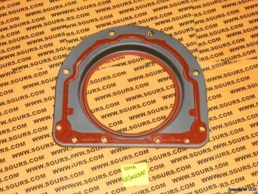 02/202370, 02/200523 Сальник коленвала задний с обоймой 2418F701 на двигатель Perkins 1004.40 серии, Housing, & rear oil seal, assembly